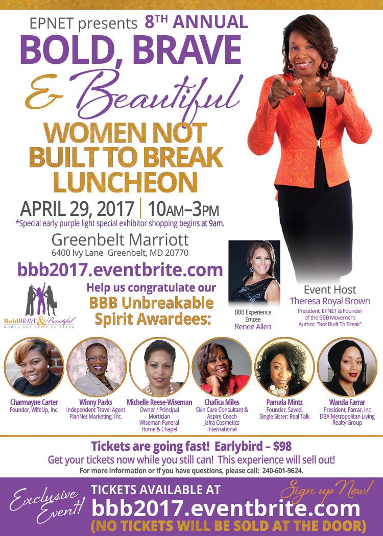 Bold, Brave & Beautiful Women Not Built To Break Luncheon